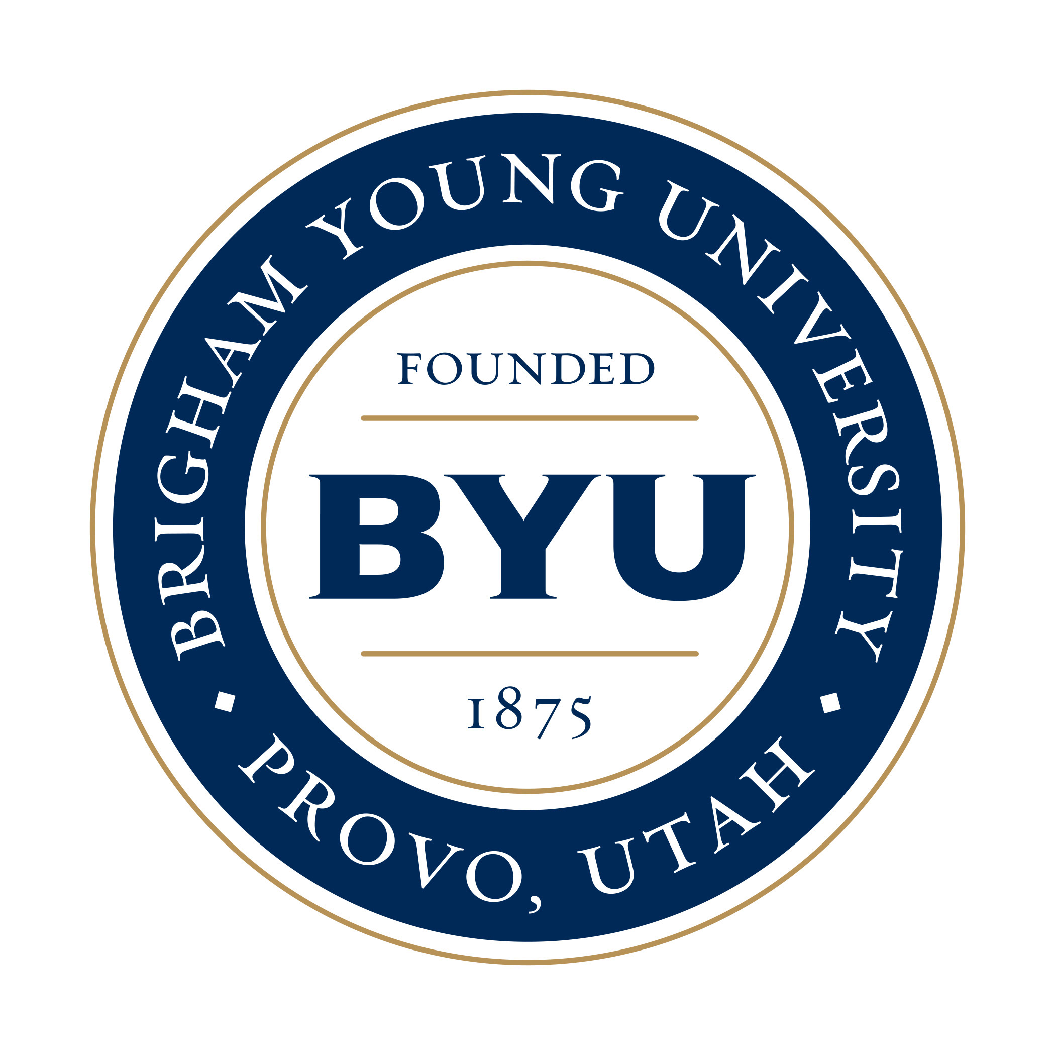 Logo: Brigham Young University; Provo, Utah; Founded 1875